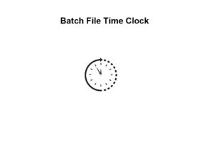 Batch File Time Clock