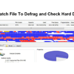 Batch File To Defrag and Check Hard Disk