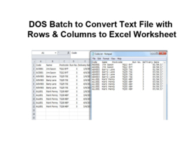 DOS Batch to Convert Text File with Rows & Columns to Excel Worksheet