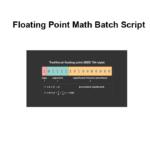 Floating Point Math Batch Script
