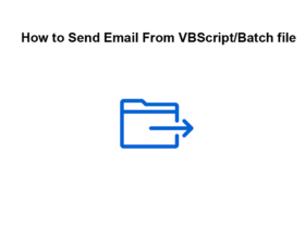 How to Send Email From VBScript/Batch file