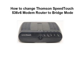 How to change Thomson SpeedTouch 536v6 Modem Router to Bridge Mode