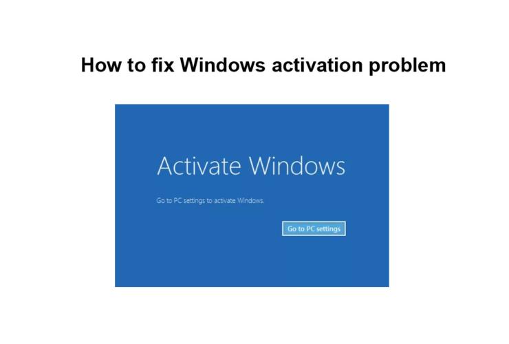 How to fix Windows activation problem