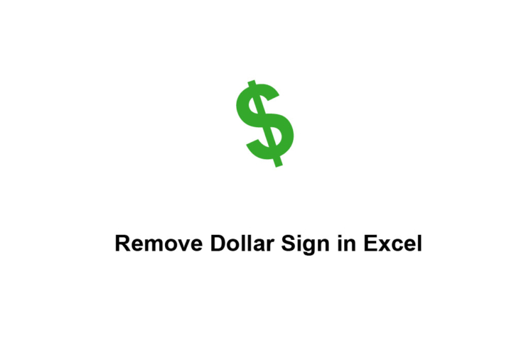 Remove or Delete Dollar Sign in Excel