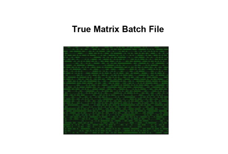 True Matrix Batch File