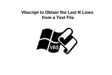 Vbscript to Obtain the Last N Lines from a Text File